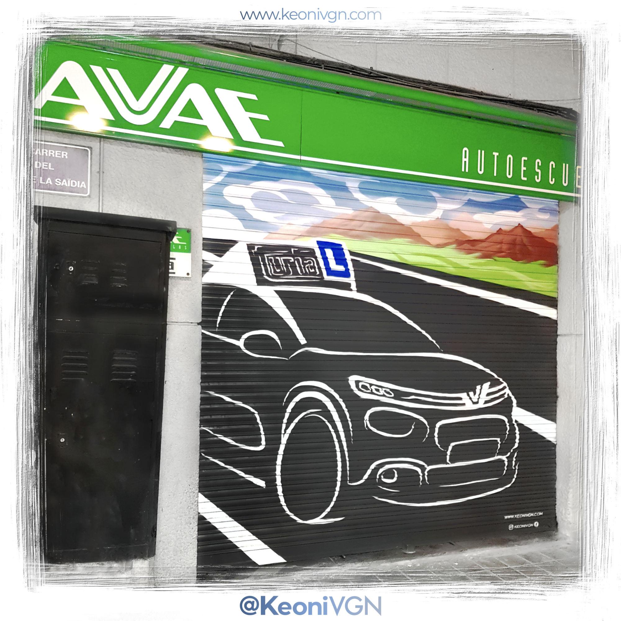 Mural Autoescuela AVAE 2