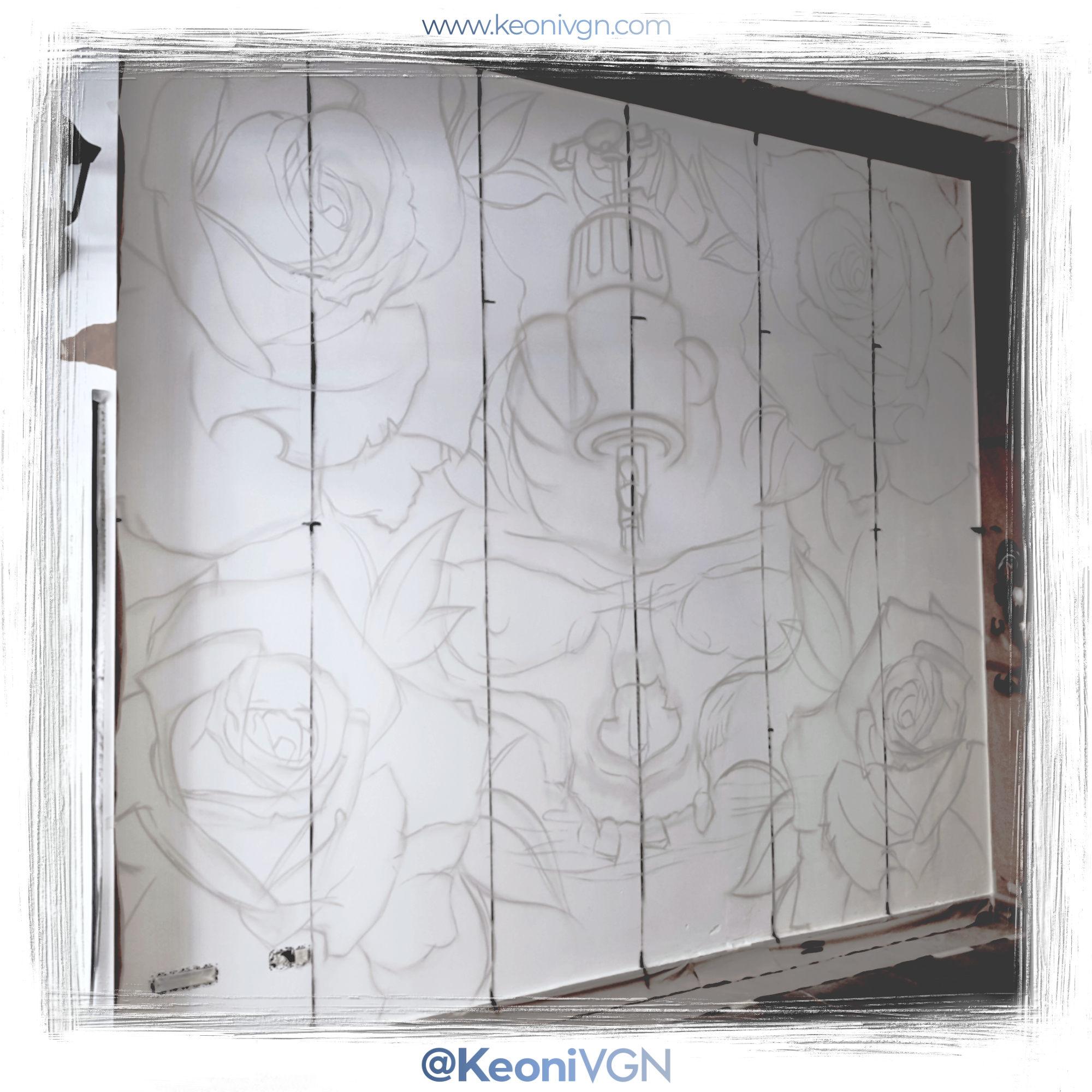 Mural Skull & Roses - Nava Tattoo 3