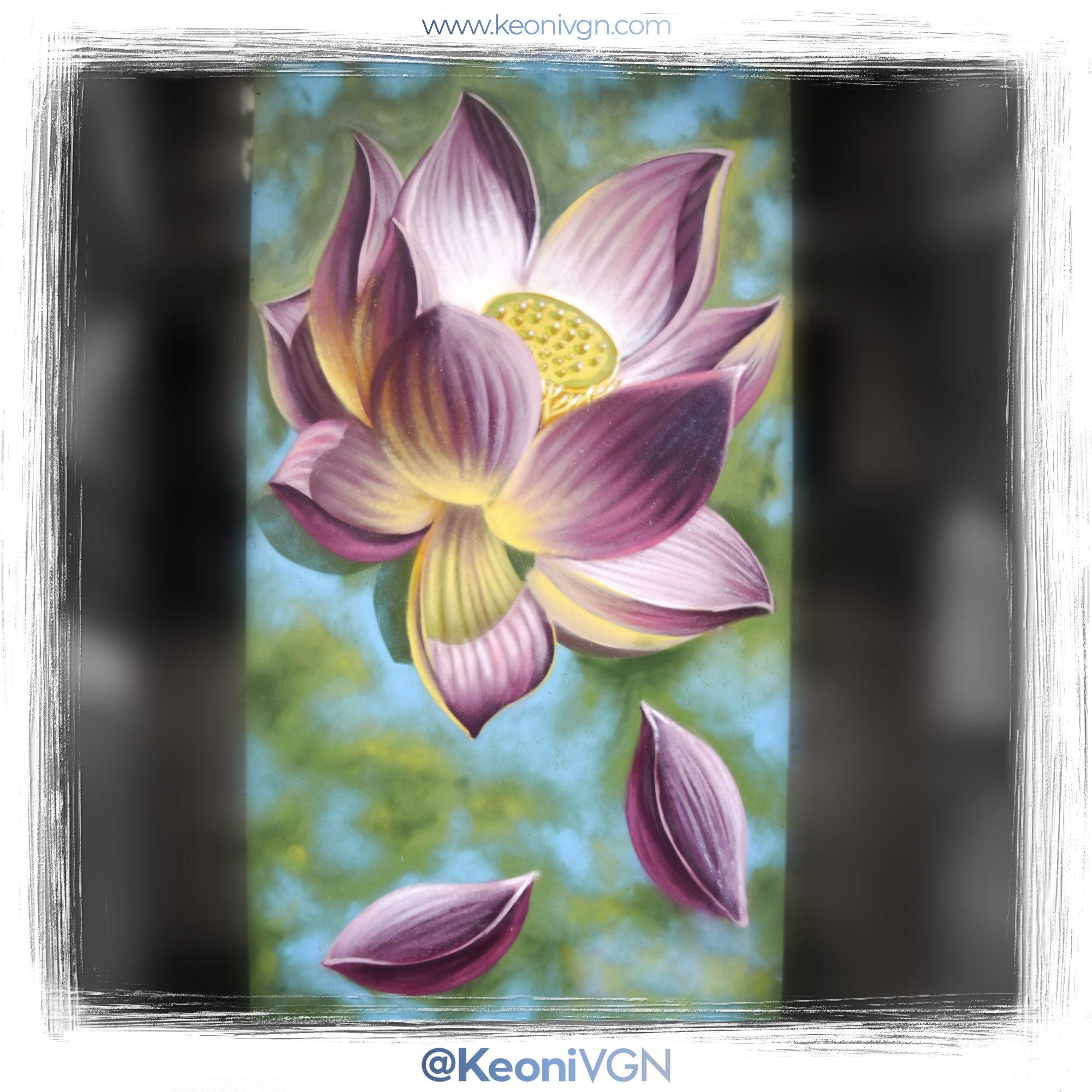 Mural Lotus Flower