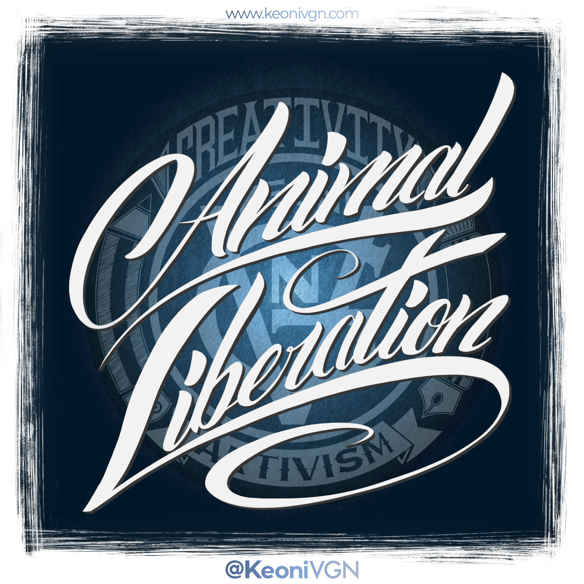 proyecto LETTERING ANIMAL LIBERATION