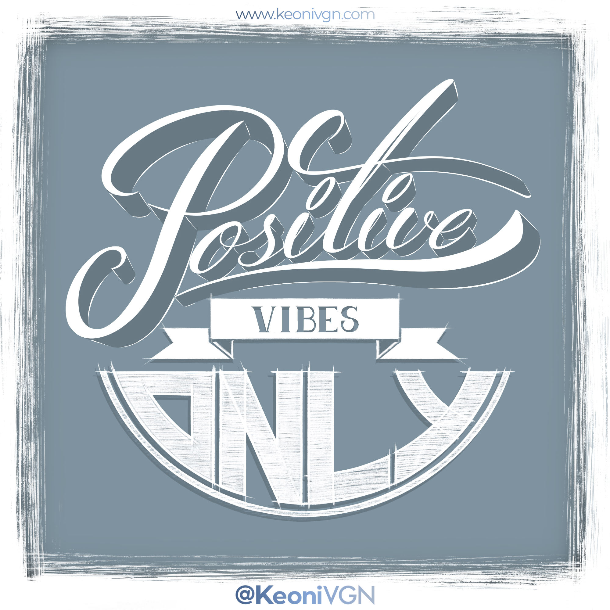 LETTERING POSITIVE VIBES ONLY