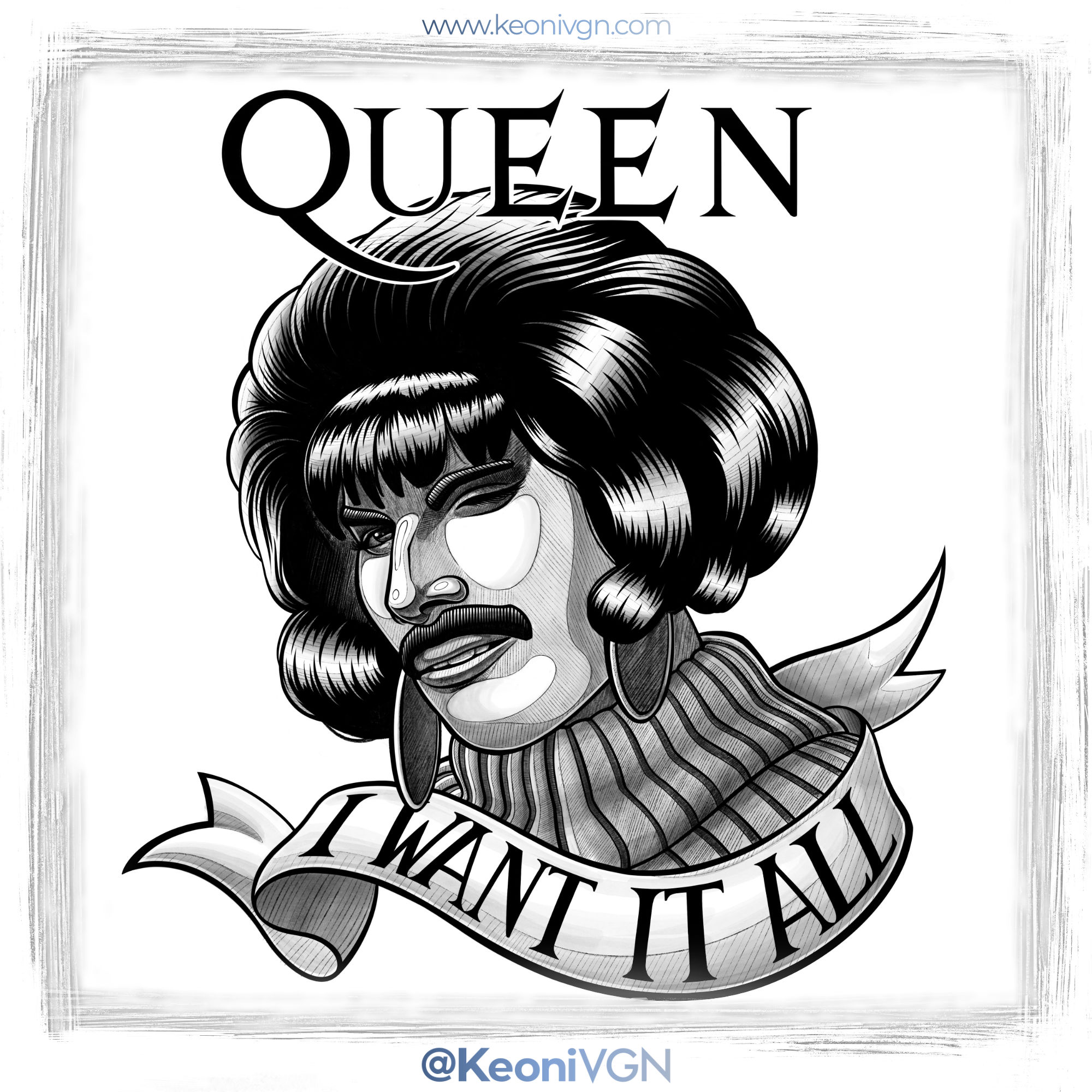 Ilustración - Freddie Queen Tattoo
