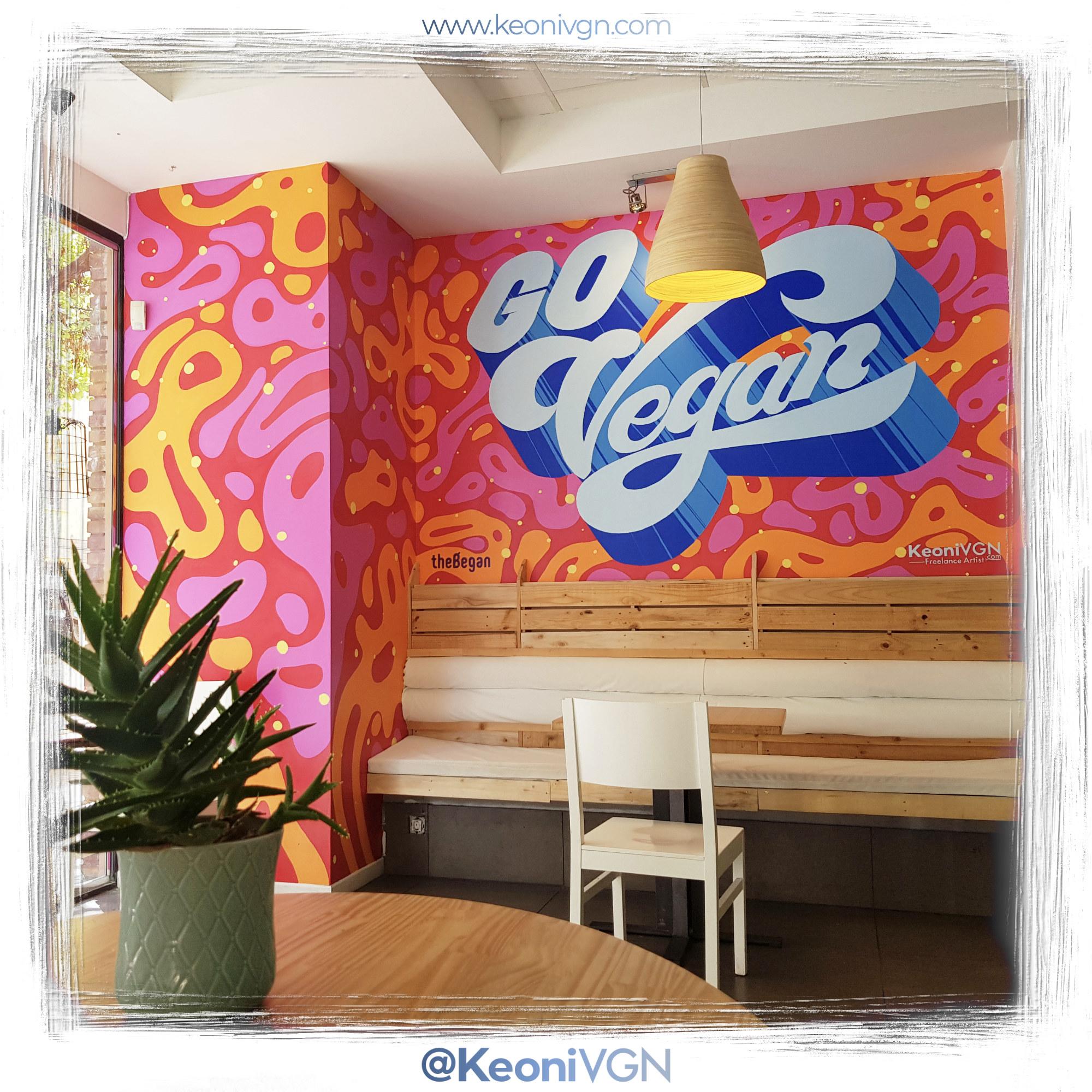 """proyecto Lettering """"Go Vegan"""""""